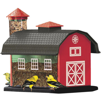 Picture of Cherry Valley 12-2/3 In. 7 Lb. Capacity Red Barn Finch Thistle Combo Feeder