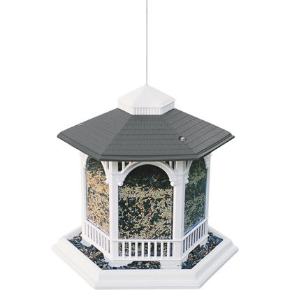Picture of Cherry Valley White Plastic Gazebo Bird Feeder