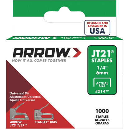 Picture of Arrow JT21 Light Duty Staple, 1/4 In. (1000-Pack)