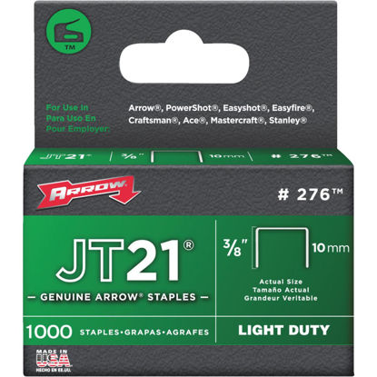 Picture of Arrow JT21 Light Duty Staple, 3/8 In. (1000-Pack)