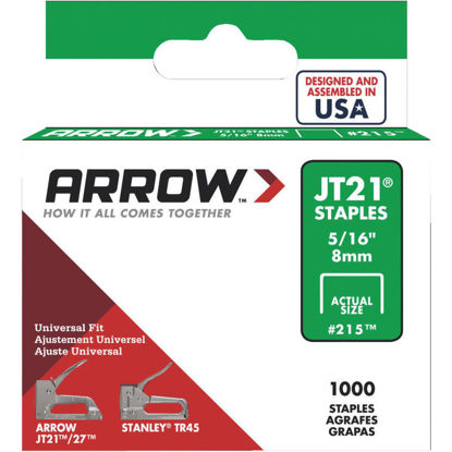 Picture of Arrow JT21 Light Duty Staple, 5/16 In. (1000-Pack)