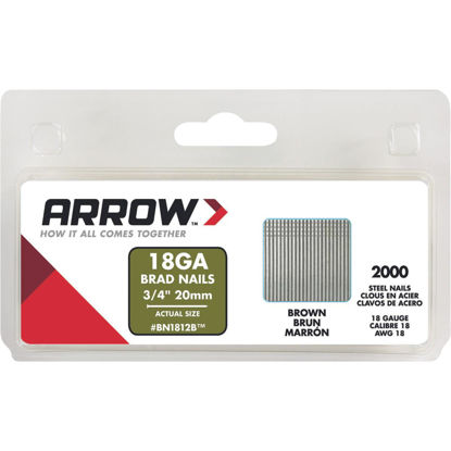 Picture of Arrow 18-Gauge Brown Steel Brad Nail, 3/4 In. (2000-Pack)