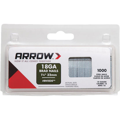 Picture of Arrow 18-Gauge Steel Brad Nail, 1-1/4 In. (1000-Pack)