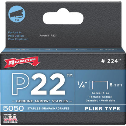 Picture of Arrow P22 Plier Type Staple, 1/4 In. (5050-Pack)