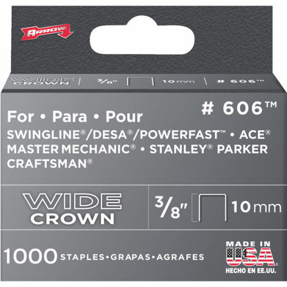 Picture of Arrow Heavy-Duty Wide Crown Staple, 3/8 In. (1000-Pack)