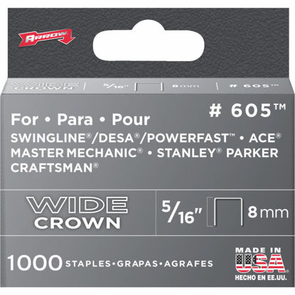 Picture of Arrow Heavy-Duty Wide Crown Staple, 5/16 In. (1000-Pack)