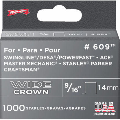 Picture of Arrow Heavy-Duty Wide Crown Staple, 9/16 In. (1000-Pack)