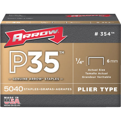 Picture of Arrow P35 Plier Type Staple, 1/4 In. (5040-Pack)