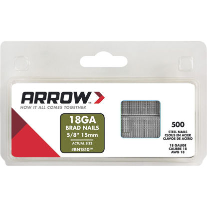 Picture of Arrow 18-Gauge Steel Brad Nail, 5/8 In. (1000-Pack)