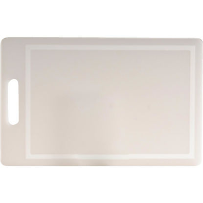 Picture of Norpro 10 In. x 16 In. White Polyethylene Professional Cutting Board