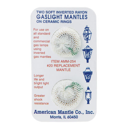 Picture of American Mantle Soft Inverted Gas Light Mantle (2 Count)