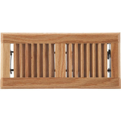 Picture of Home Impressions 4 In. x 10 In. Light Oak Floor Register