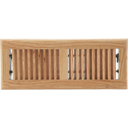 Picture of Home Impressions 4 In. x 12 In. Light Oak Floor Register