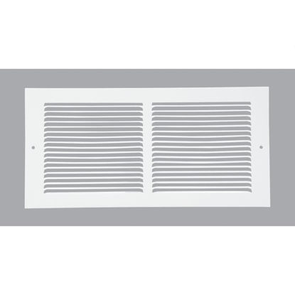 Picture of Home Impressions 6 In. x 14 In. White Steel Baseboard Grille