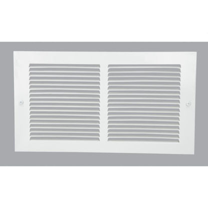 Picture of Home Impressions 6 In. x 12 In. White Steel Baseboard Grille
