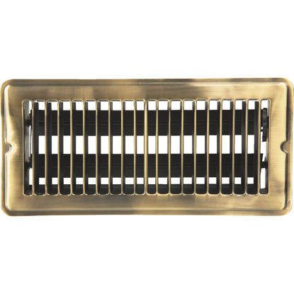 Picture of Home Impressions 4 In. x 10 In. Antique Brass Steel Floor Register