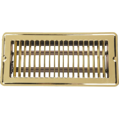 Picture of Home Impressions 4 In. x 10 In. Bright Brass Steel Floor Register