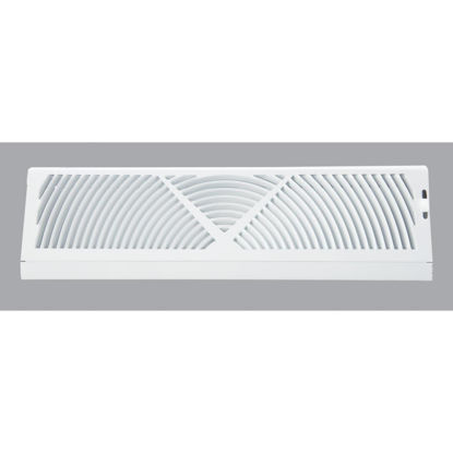 Picture of Home Impressions 18 In. White Steel Baseboard Diffuser