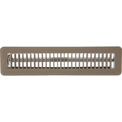 Picture of Home Impressions 2-1/4 In. x 14 In. Brown Steel Floor Register