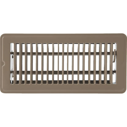 Picture of Home Impressions 4 In. x 10 In. Brown Steel Floor Register