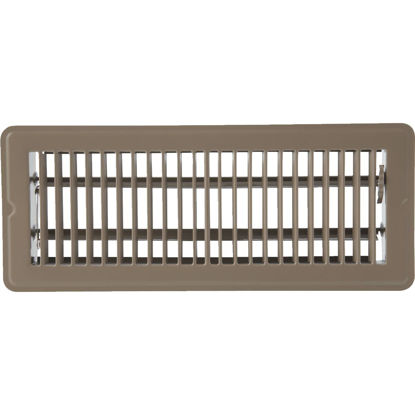 Picture of Home Impressions 4 In. x 12 In. Brown Steel Floor Register