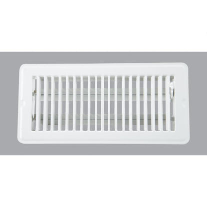 Picture of Home Impressions 4 In. x 10 In. White Steel Floor Register