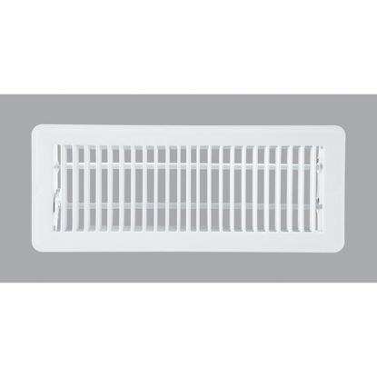 Picture of Home Impressions 4 In. x 12 In. White Steel Floor Register