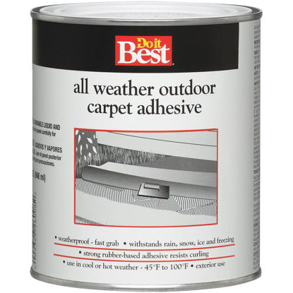 Picture of Do it Best All Weather Outdoor Carpet Adhesive, Quart