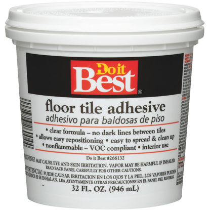 Picture of Do it Best Clear Thin Spread Floor Tile Adhesive (Quart)