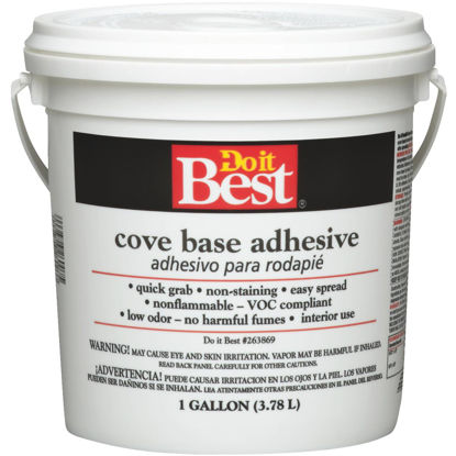 Picture of Do It Best 1 Gal. Buff Cove Base Adhesive