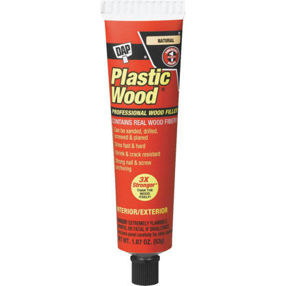 Picture of DAP Plastic Wood 1.8 Oz. Natural Solvent Professional Wood Filler