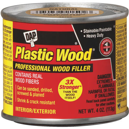 Picture of DAP Plastic Wood 4 Oz. White Solvent Professional Wood Filler