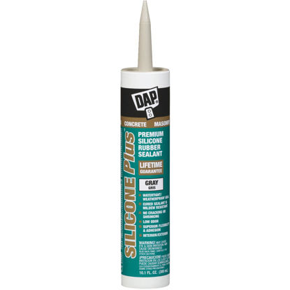 Picture of Dap Silicone Plus Ready-To-Use 10.1 Oz Gray Concrete Sealant