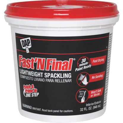 Picture of DAP Fast 'N Final 32 Oz. Lightweight Latex Patch & Prime Spackling