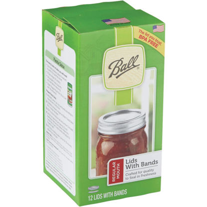 Picture of Ball Regular Mouth Dome Canning Lid with Band (12-Count)