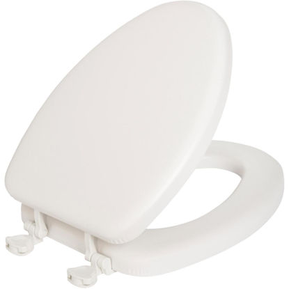 Picture of Mayfair Elongated Closed Front Premium Soft White Toilet Seat