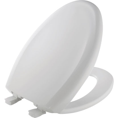 Picture of Mayfair Elongated Closed Front Premium Sweptback Slow-Close White Plastic Toilet Seat