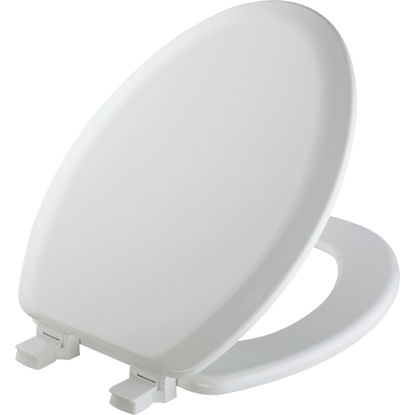 Picture of Mayfair Elongated Closed Front White Wood Toilet Seat