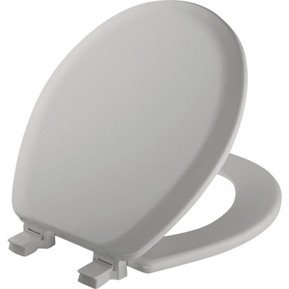 Picture of Mayfair Advantage Round Closed Front Silver Wood Toilet Seat