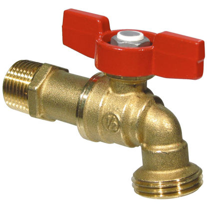 Picture of B & K ProLine Forged Brass 1/2 In. MIP X 3/4 In. Male Hose Thread Ball Hose Bibb