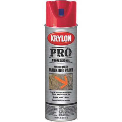Picture of Krylon APWA Red 15 Oz. Inverted Marking Spray Paint