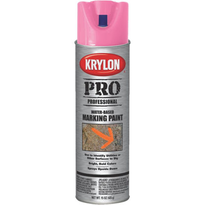 Picture of Krylon Fluorescent Pink 15 Oz. Inverted Marking Spray Paint