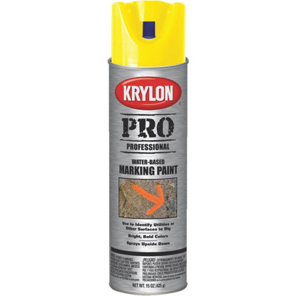 Picture of Krylon APWA Utility Yellow 15 Oz. Inverted Marking Spray Paint