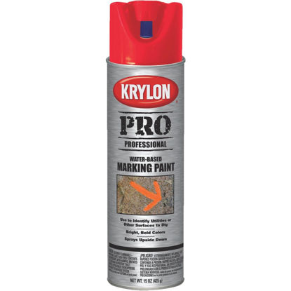 Picture of Krylon Fluorescent Safety Red 15 Oz. Inverted Marking Spray Paint