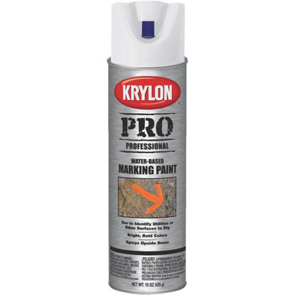 Picture of Krylon APWA White 15 Oz. Inverted Marking Spray Paint