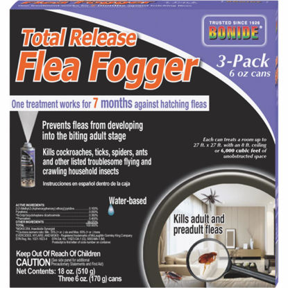 Picture of Bonide Flea 6 Oz. Indoor Insect Fogger (3-Pack)