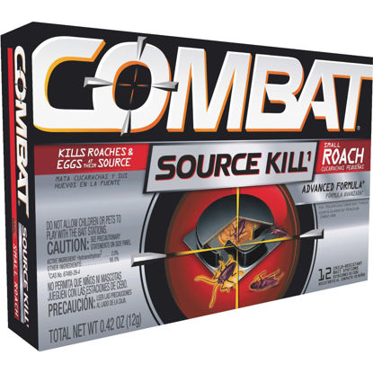 Picture of Combat Source Kill 0.42 Oz. Solid Small Roach Bait Station (12-Pack)