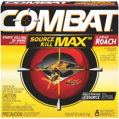 Picture of Combat Source Kill Max 0.49 Oz. Solid Large Roach Bait Station (8-Pack)