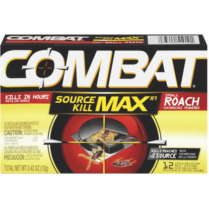 Picture of Combat Source Kill Max 0.42 Oz. Solid Small Roach Bait Station (12-Pack)