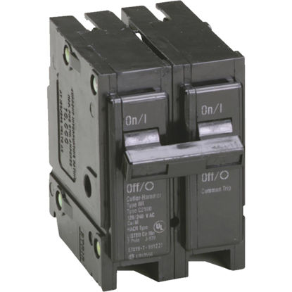 Picture of Eaton BR 15A Double-Pole Standard Trip Circuit Breaker